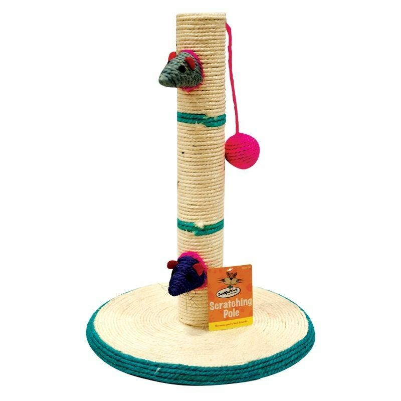 Cat scratching Post Sisal Cat Tree with Mat Pet Kitten Puppy activity pole
