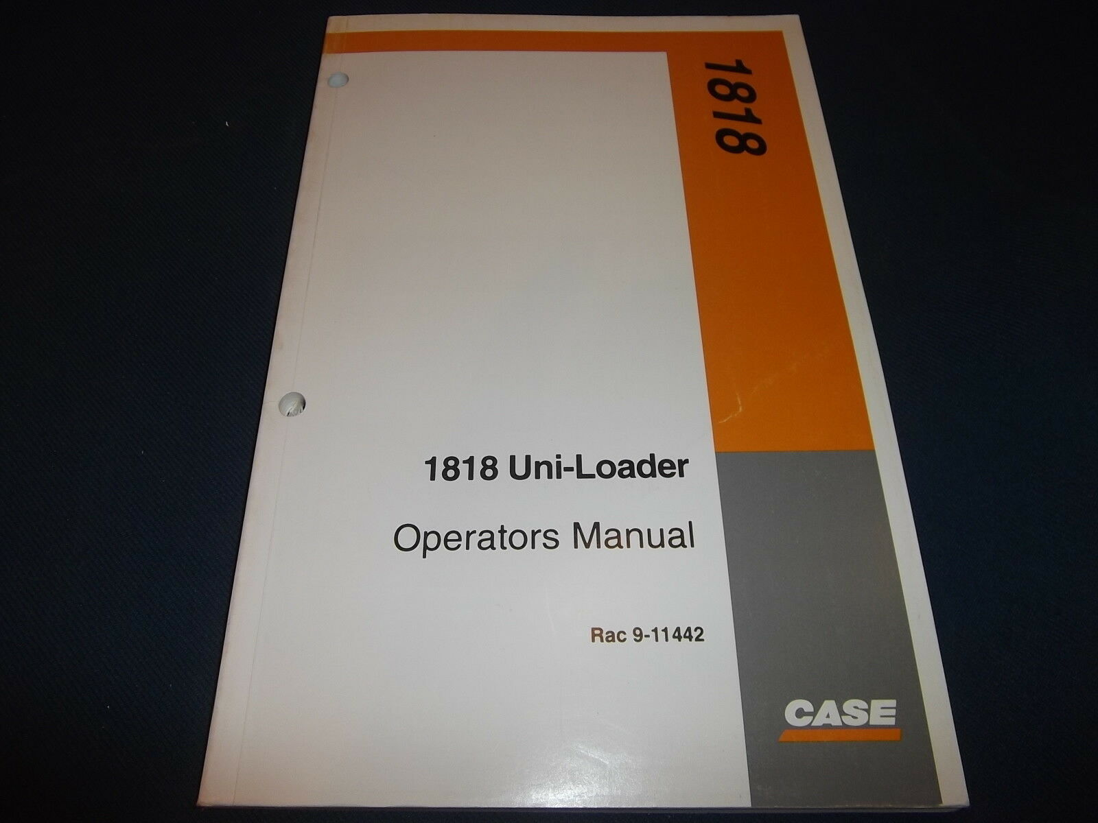 Case 1818 Uni-Loader Skid Steer Operator Operation & Maintenance Book Manual  1 of 1Only 1 available ...