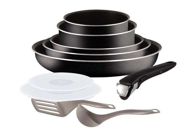 set de po les et casseroles tefal ingenio 5 essential noir 10 pi ces eur 61 99 picclick fr. Black Bedroom Furniture Sets. Home Design Ideas