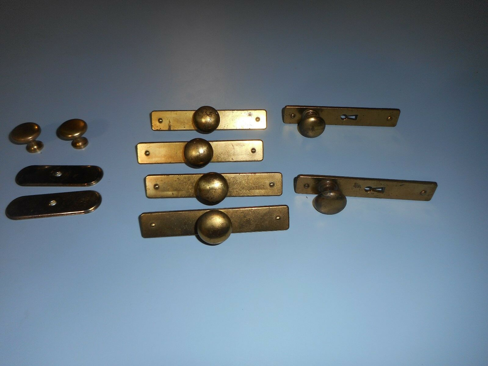 Lot of Ilco Unican Brass Drawer pulls.