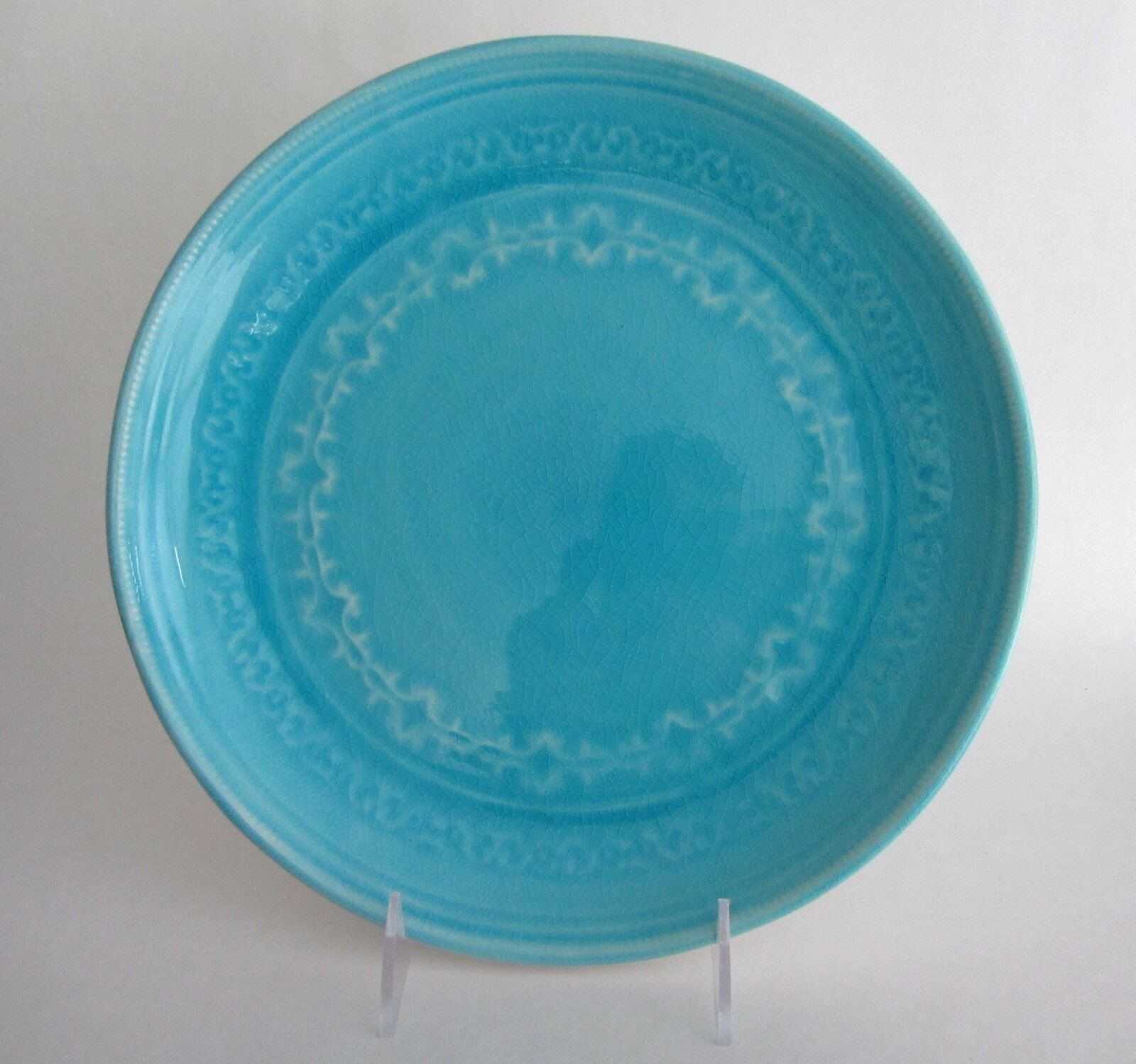 set  artistic accents crackled glass turquoise aqua blue  - set  artistic accents crackled glass turquoise aqua blue stoneware dinnerplate • £ set  artistic accents crackled glass turquoise aqua blue