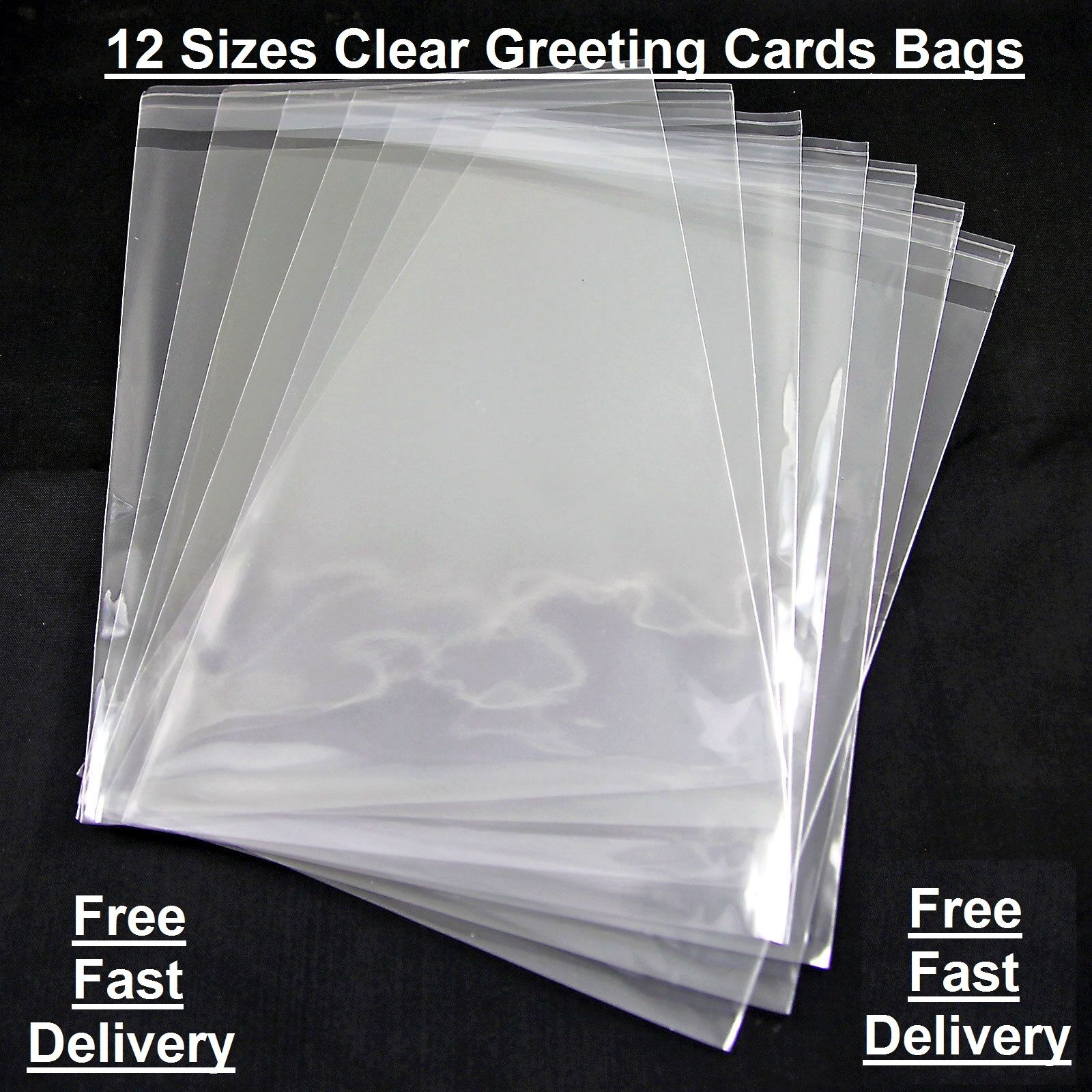 Clear Cellophane Card Bags Cello Display Bag For Greeting Cards