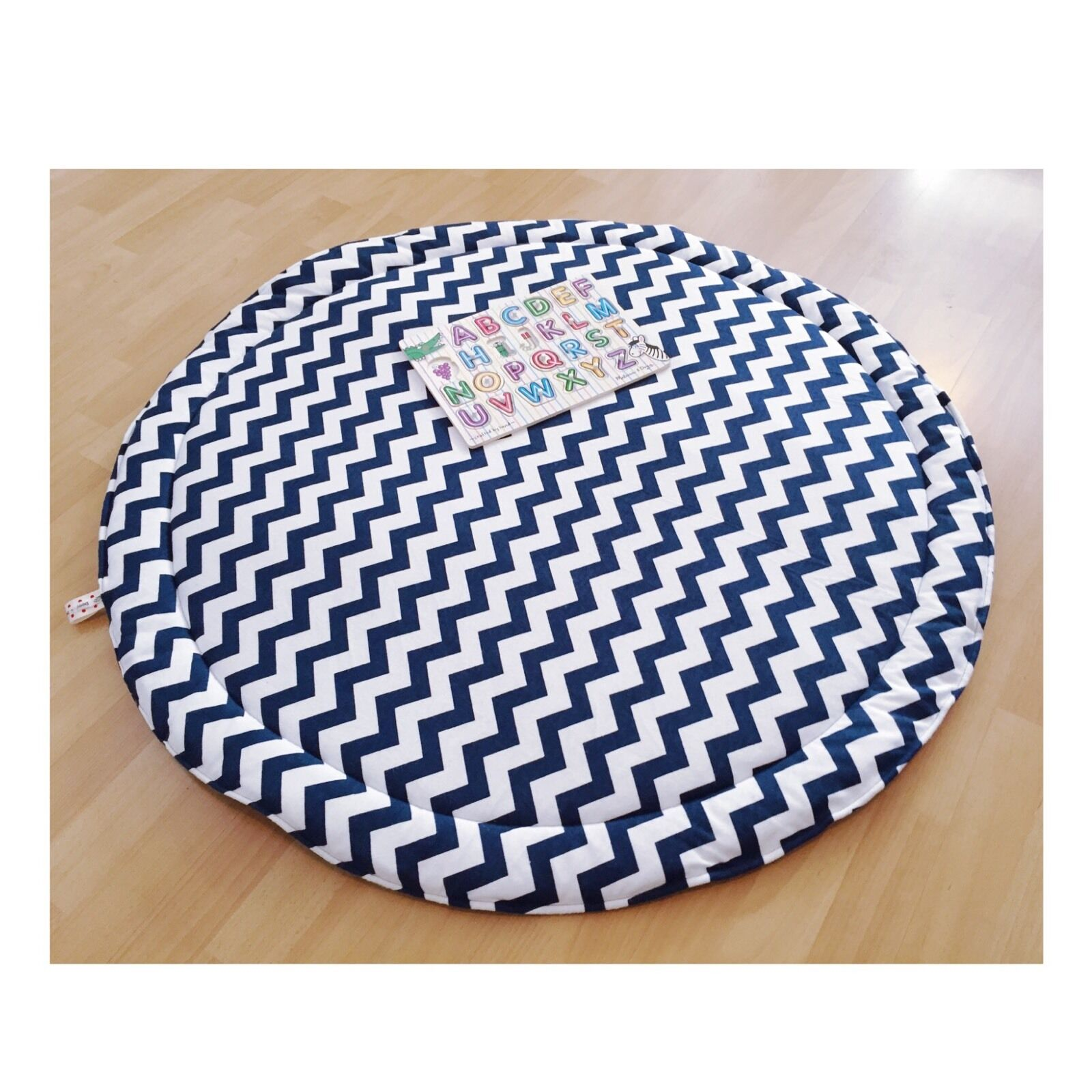 Baby Toy Rug: LUXURIOUS BABY PADDED Round Tummy Time Play Mat Roundies