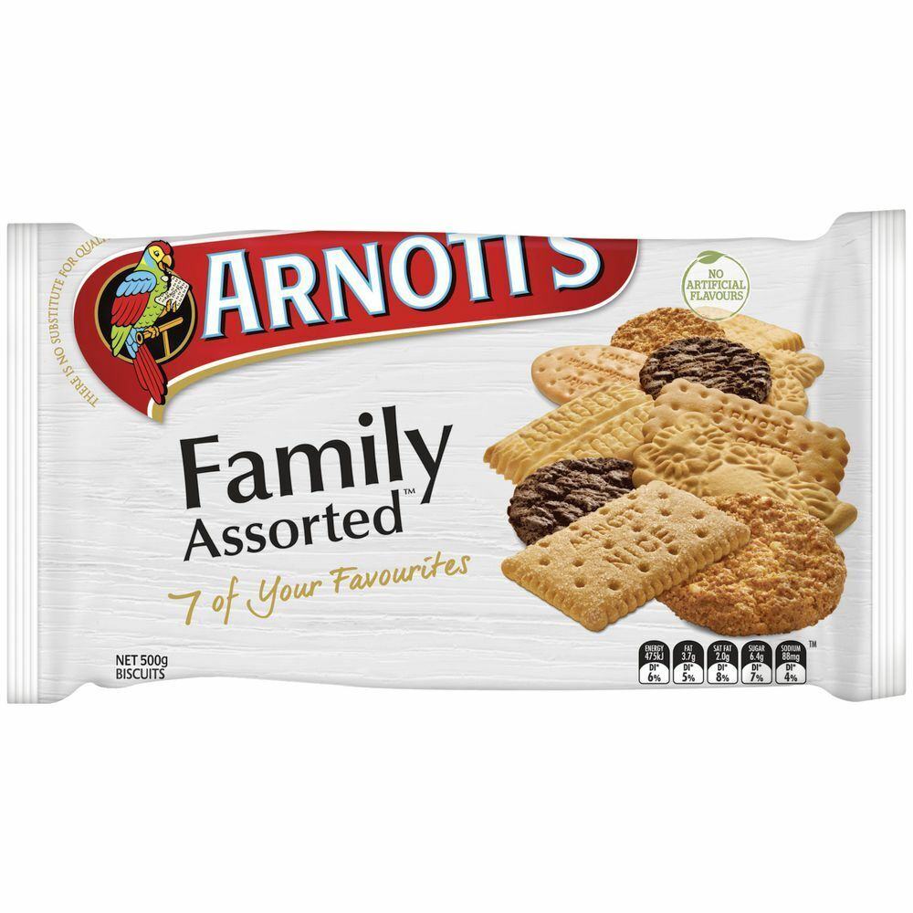 Arnott's Family Assorted Biscuits Pack 500g