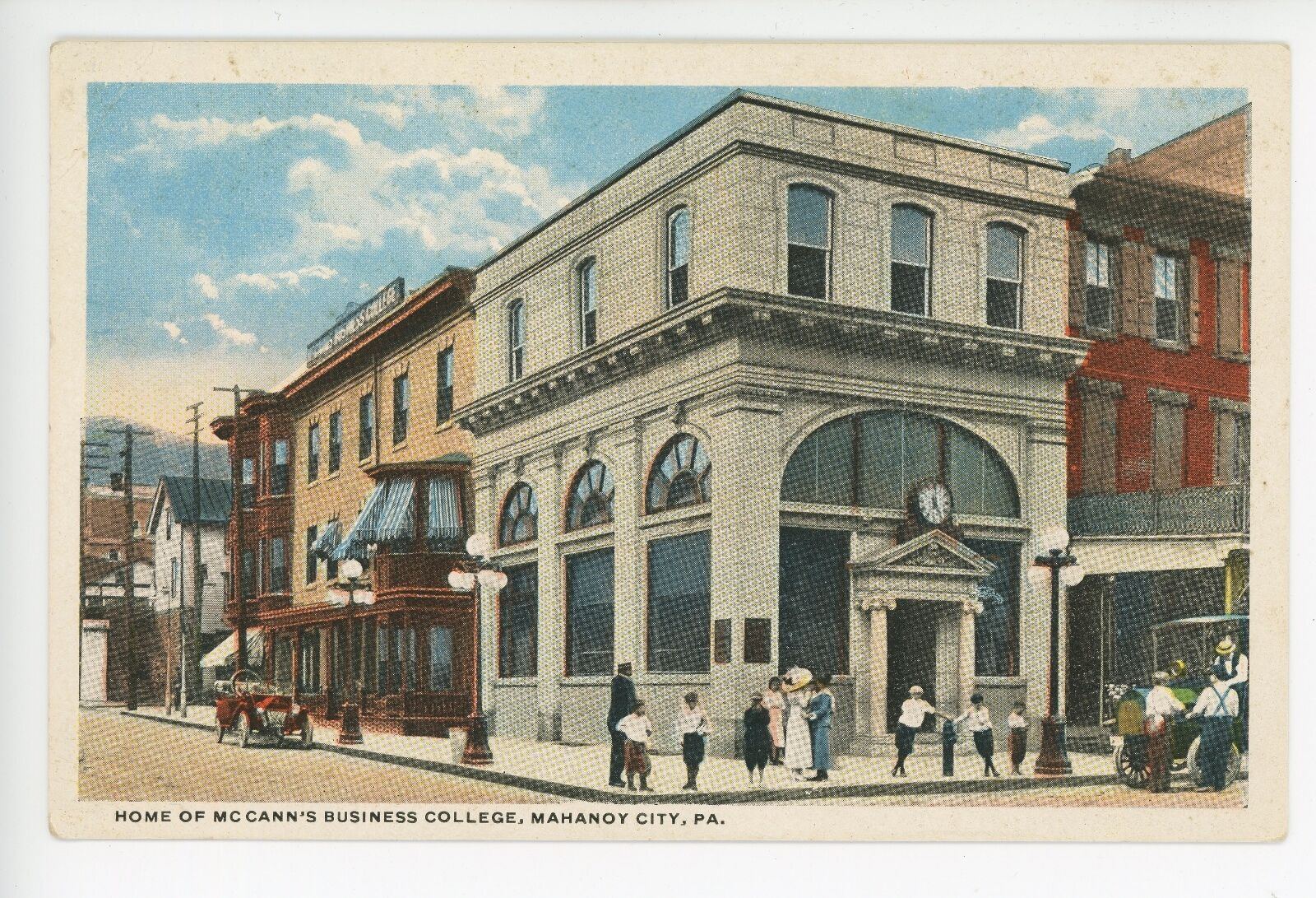 Mahanoy City (PA) United States  city pictures gallery : McCann's Business College MAHANOY CITY PA Rare Antique PC ca. 1910s ...