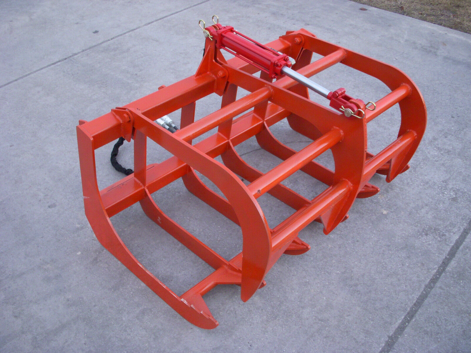 Tractor Bucket Attachments : Kubota compact tractor attachment quot root rake grapple