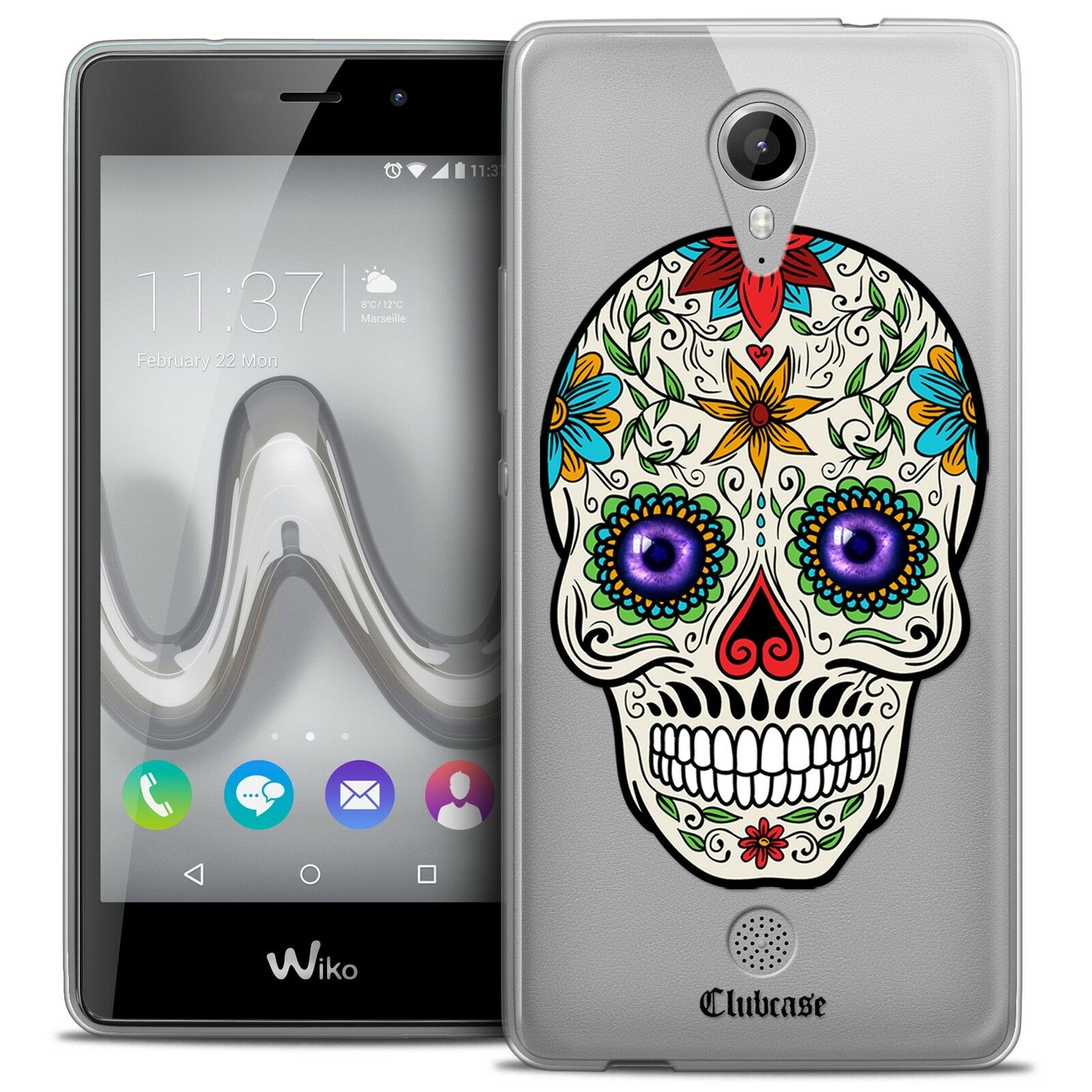 coque crystal gel wiko tommy extra fine souple skull maria 39 s flower eur 7 90 picclick fr. Black Bedroom Furniture Sets. Home Design Ideas
