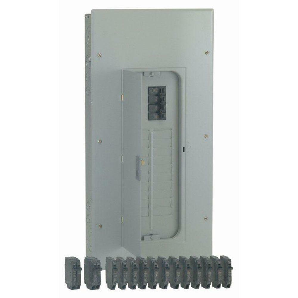 GE 200-AMP 20-SPACE 40-Circuit Flush-Surface Home Indoor Main ...