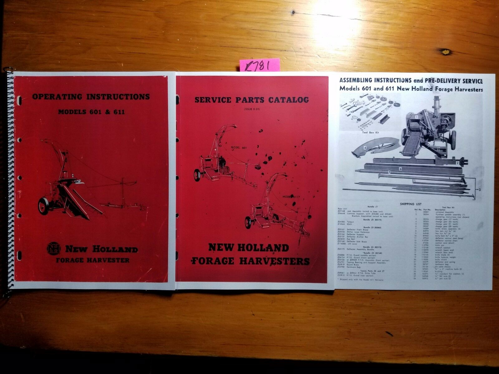 New Holland 601 611 Forage Harvester Owner Operator + Parts + Assembly  Manual 1 of 12Only 1 available ...