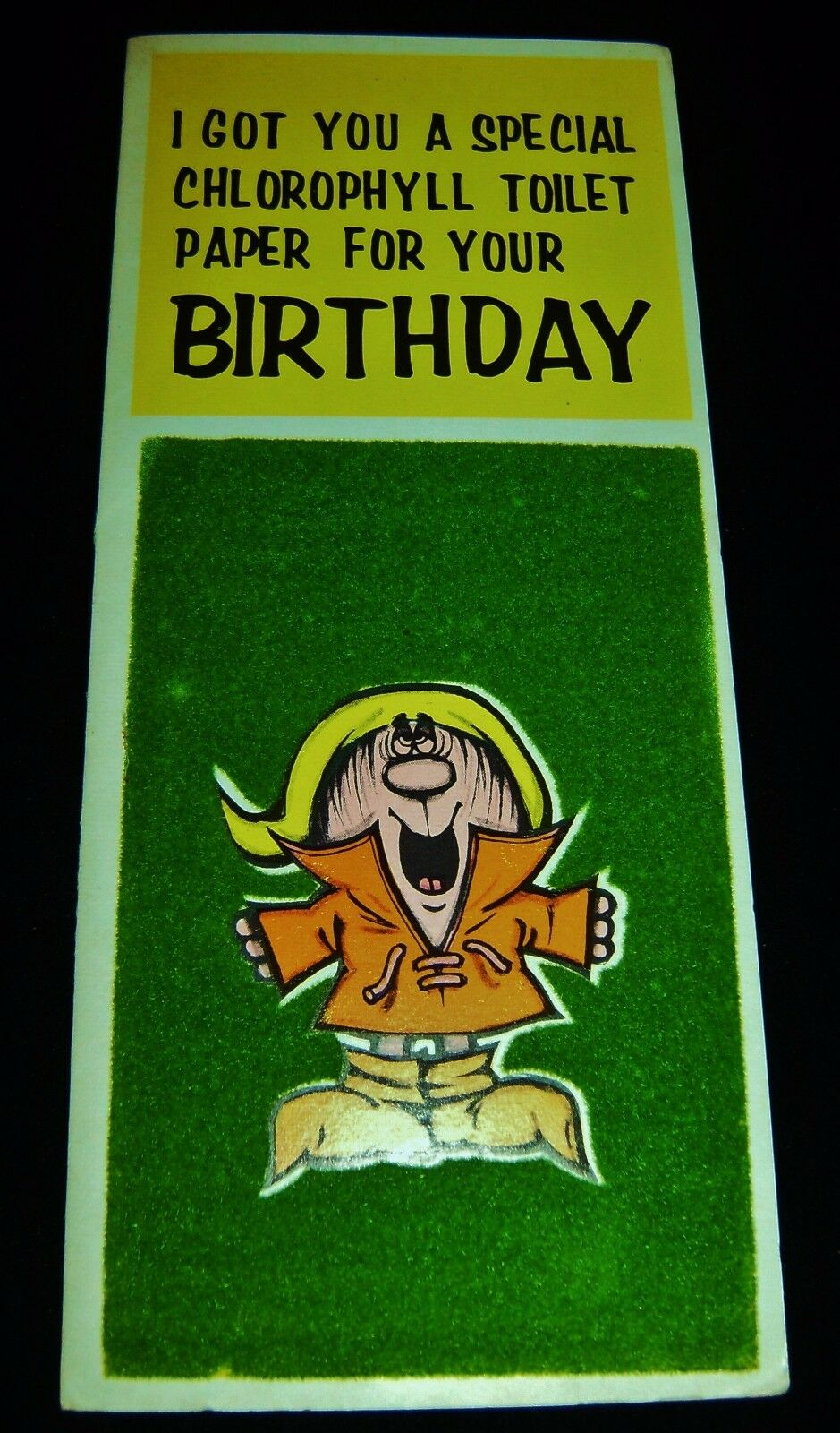 nos vintage 1960s birthday greeting card fuzzy retro rare risque 1 of 3only 1 available see more