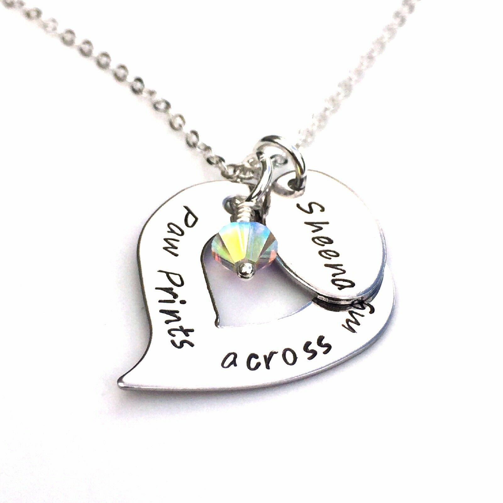 Rainbow Bridge, Loss of a Pet, Pet Memory, Personalised Necklace, Pet Jewellery