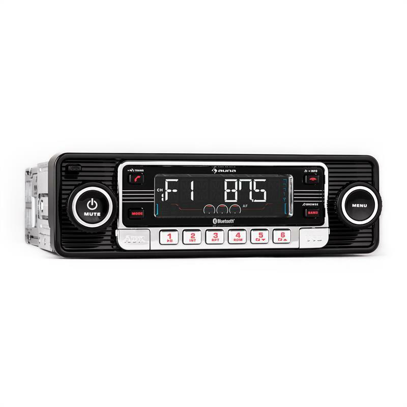 top autoradio bluetooth style vintage lecteur cd sd usb mp3 aux radio rds noir eur 134 99. Black Bedroom Furniture Sets. Home Design Ideas