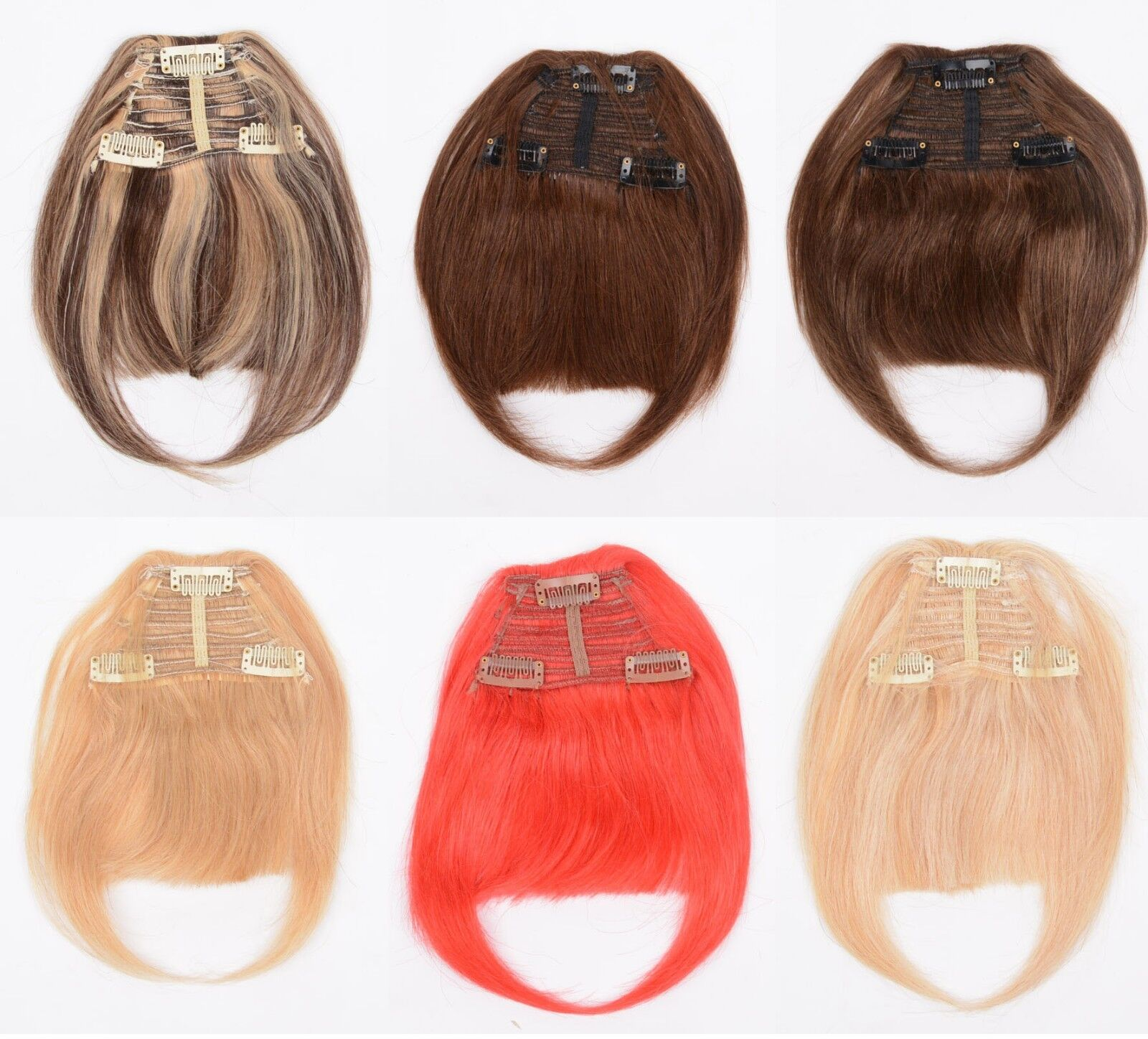 3clips Fringes Remy Virgin Clip In Real Human Hair Extensions Bangs