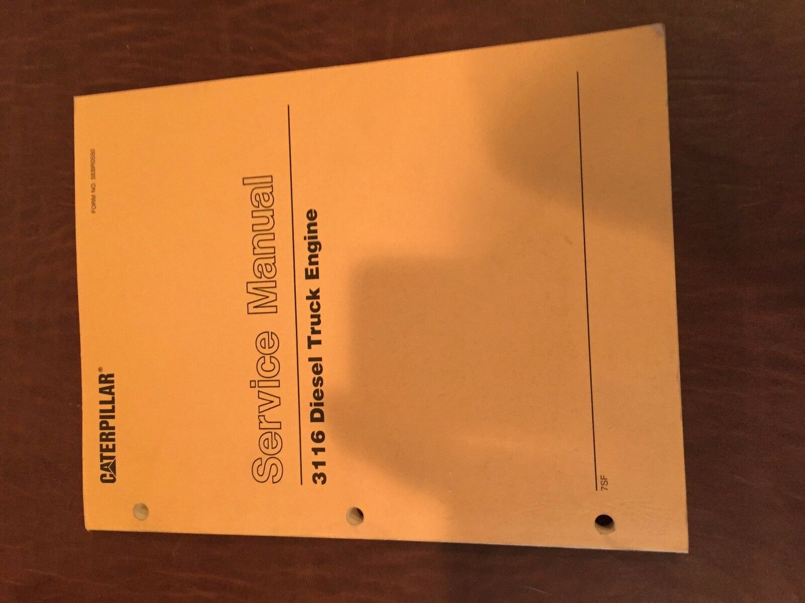 Caterpillar Cat 3116 Diesel Truck Engine Service Manual S/n 7Sf 1 of 1Only  2 available ...