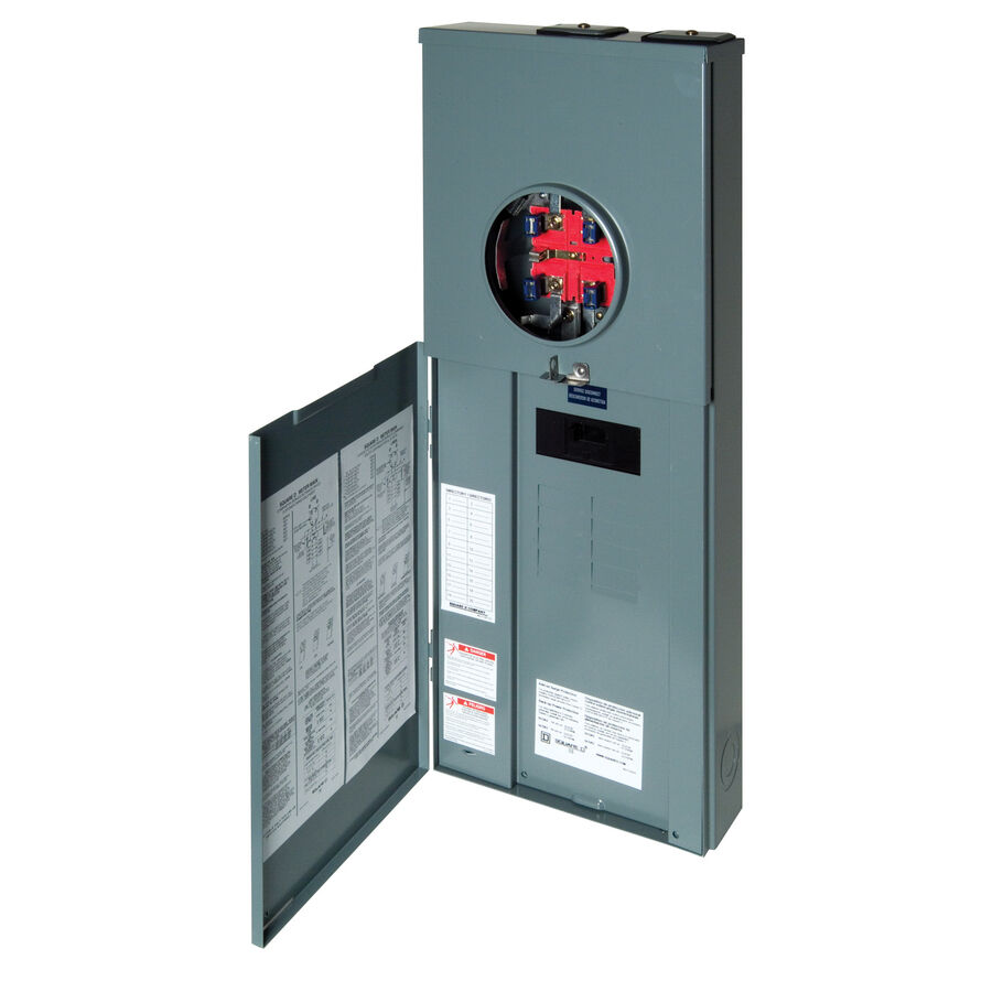 Square D Homeline 200 Amp 8 Space 16 Circuit Outdoor Main Breaker Panel Box 1 Of 5only Available