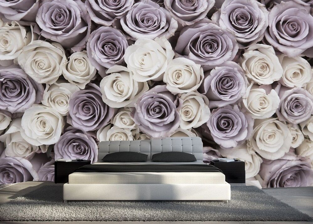 papier peint 3d trompe l oeil moderne photo murale 3d fleur gris nature eur 89 00 picclick fr. Black Bedroom Furniture Sets. Home Design Ideas