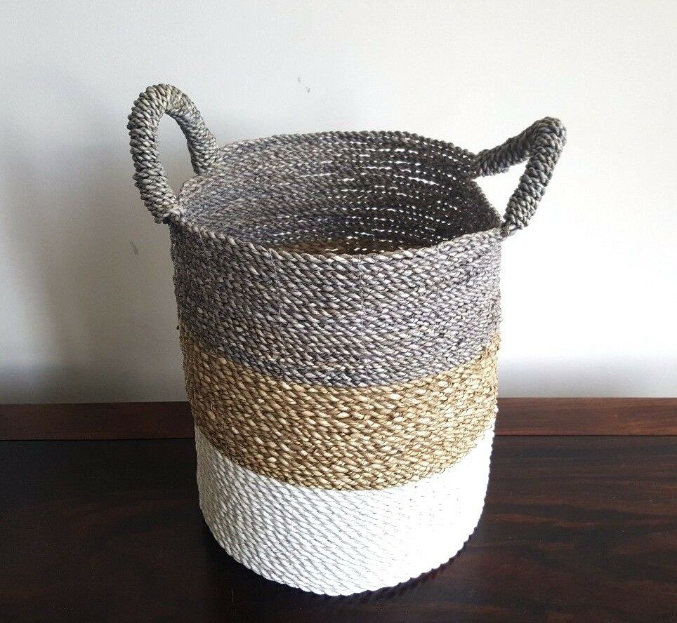 Handmade Seagrass Baskets : Basket large handmade seagrass natural storage
