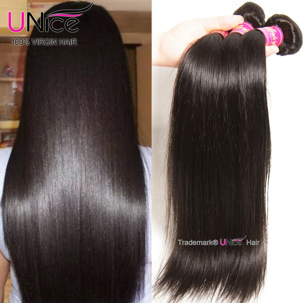 Unice Peruvian Virgin Hair Straight 3 Bundles Unprocessed Human Hair