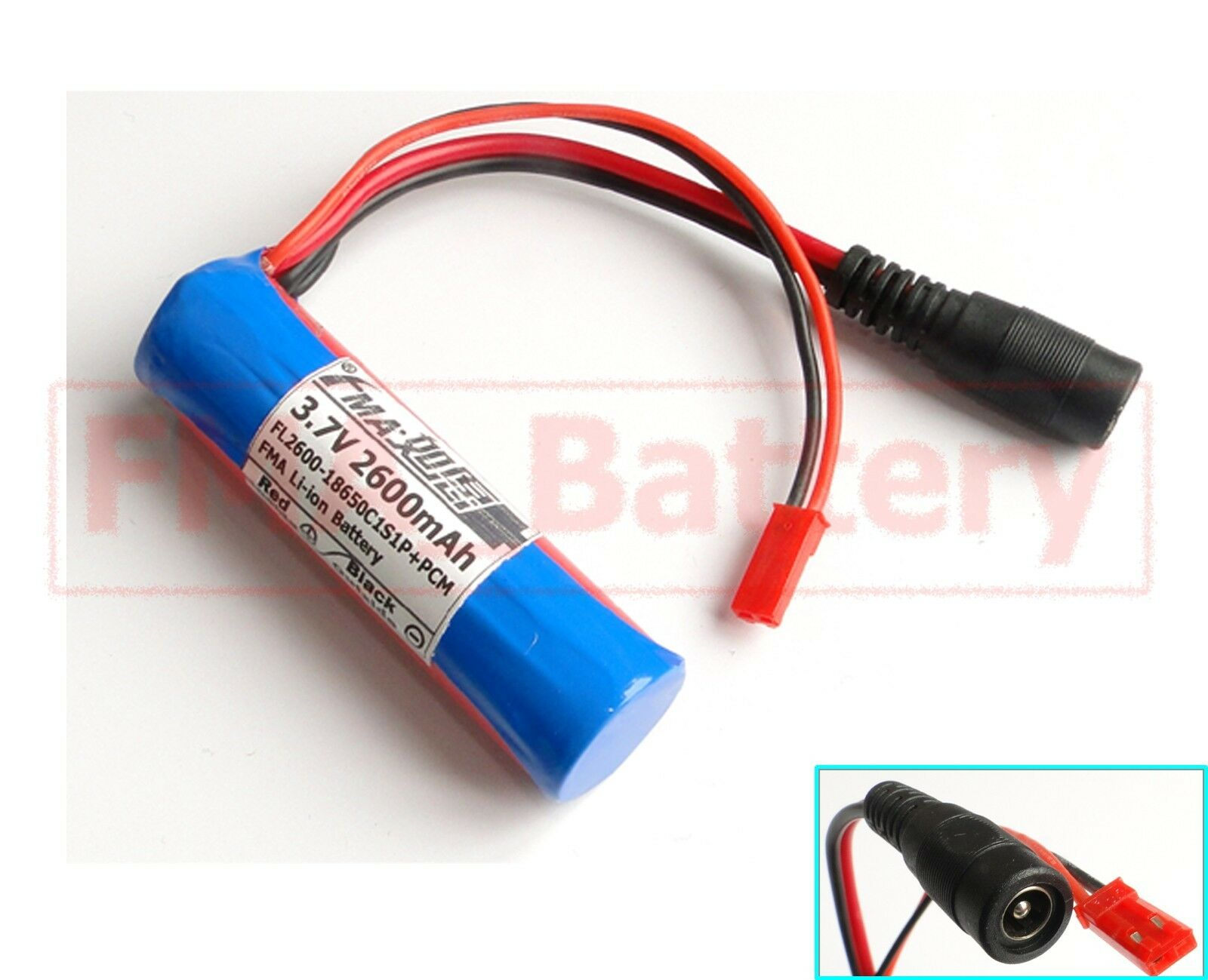 2pcs Sanyo 18650 1s1p Li Ion Rechargeable Battery 37v 2600mah W Pcm Eneloop Aaa 1 Of 1only 0 Available