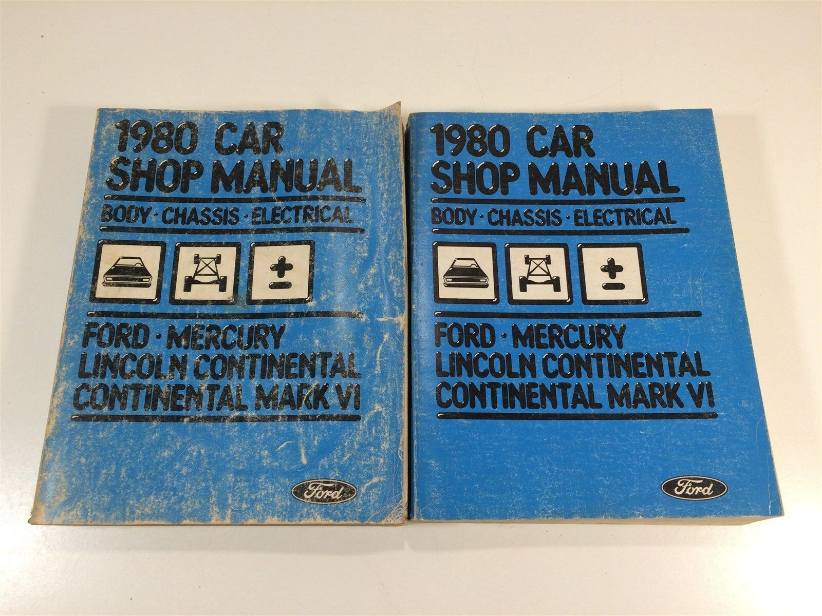 1980 Ford Car Shop Manual Body Chassis Electrical Mercury Lincoln  Continental 1 of 12Only 2 available See More