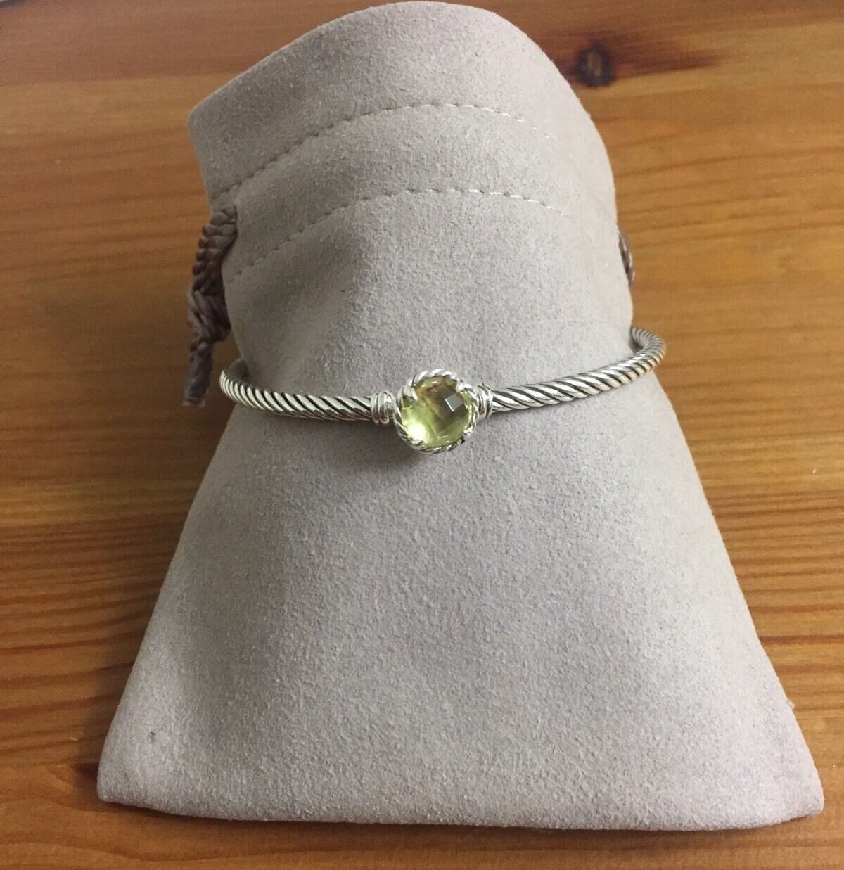 1 Of 4only Available David Yurman Claine Bracelet Lemon Citrine 925 Sterling Silver 3mm
