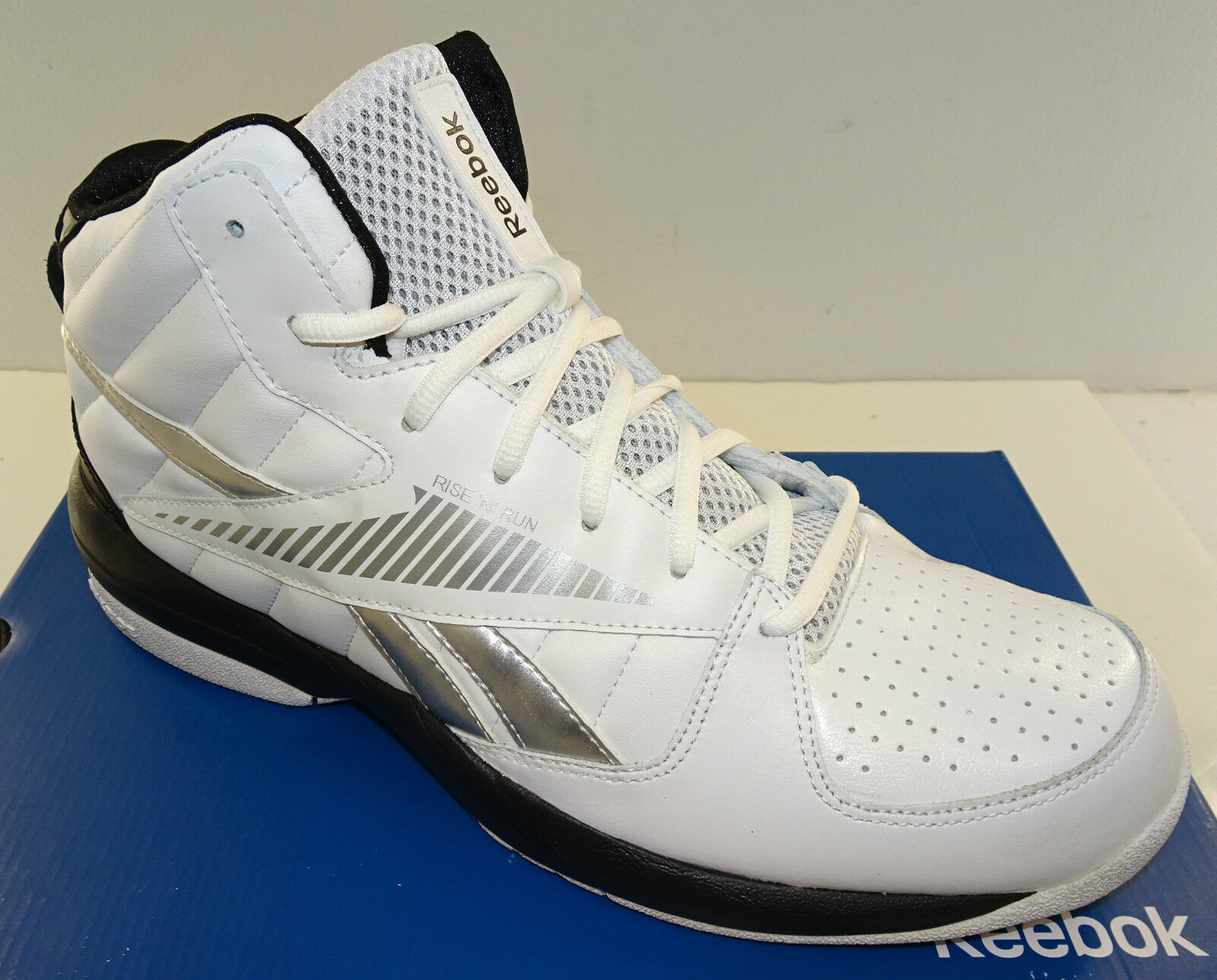 REEBOK Rise   Run Men s Basketball Shoe J90407 White NWD Size 7 NO BOX 1 of  11Only 1 available ... c415622bc