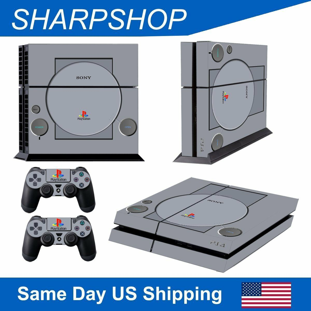 Vinyl Decal Cover Sticker for Playstation 4 Console & 2 Controller PS4 Set Skin 1 of 4Only 4 available ...