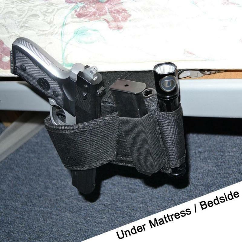 US Tactical Under Car Seat Pistol Holster Concealed Bedroom Gun 1 Of 11FREE Shipping See More