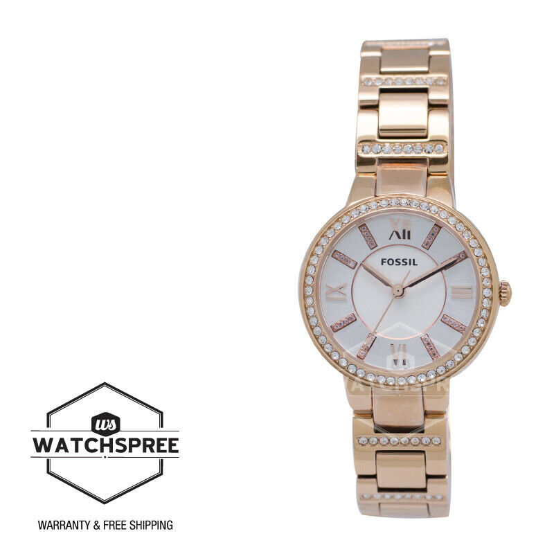 Fossil Virginia Rose Tone Ladies Watch Es3284 8950 Picclick Es3862 Original 1 Of 4only 2 Available