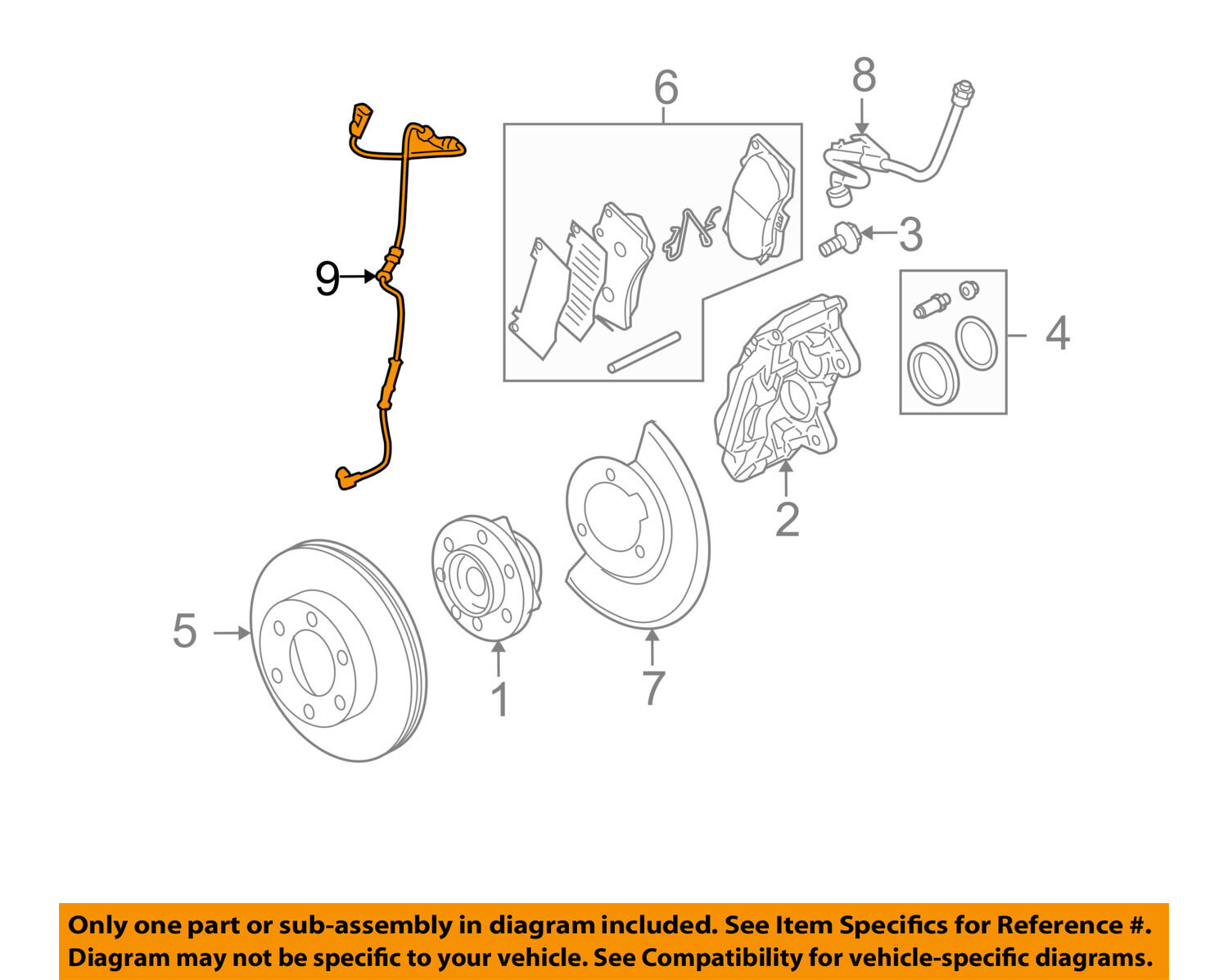 Hummer Gm Oem 06 08 H3 Abs Anti Lock Brakes Front Speed Sensor Diagram 1 Of 2free Shipping