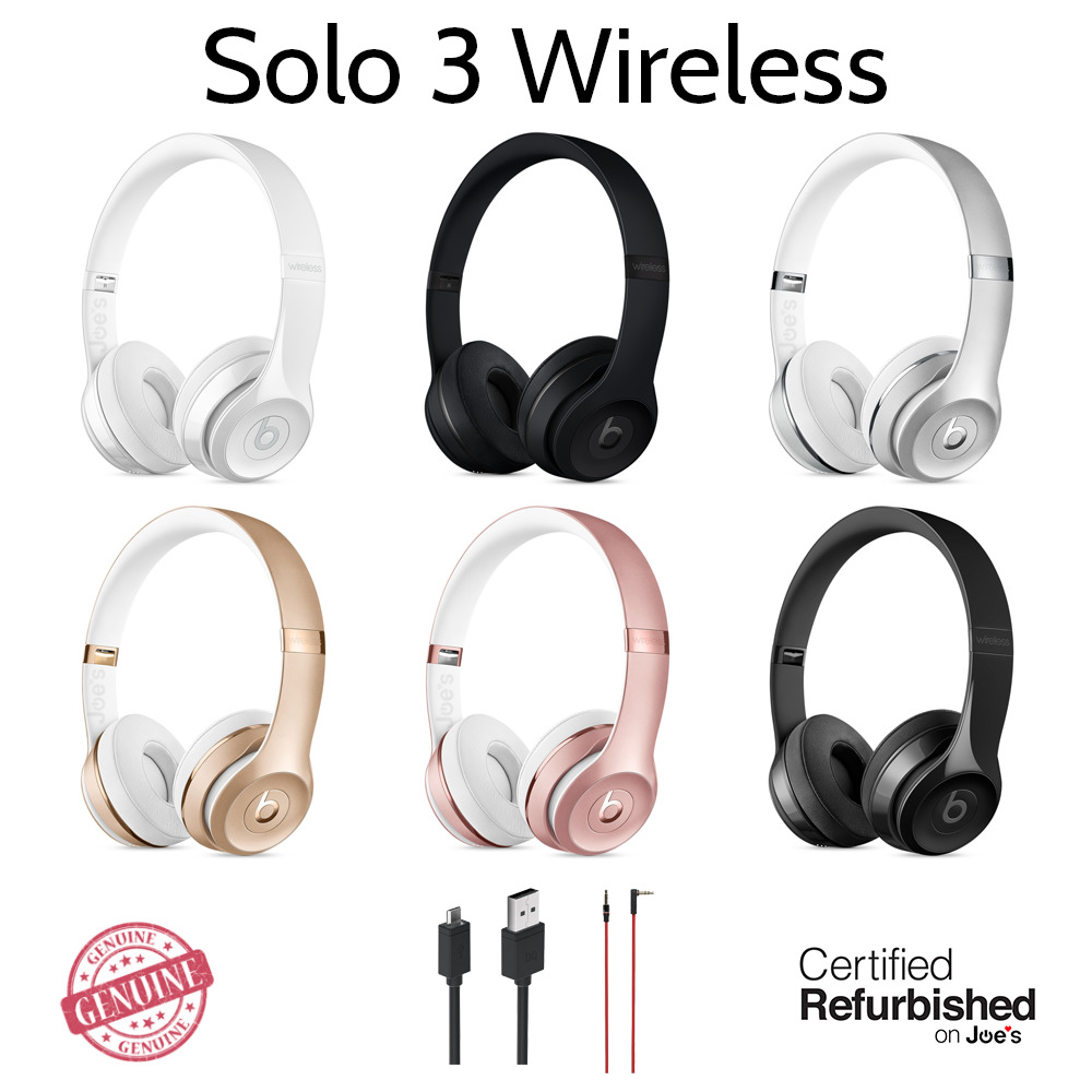 Original Beats By Dre Solo 3 30 Wireless Wired Bluetooth On Ear Headset Hd Headphones 1 Of 9only 5 Available