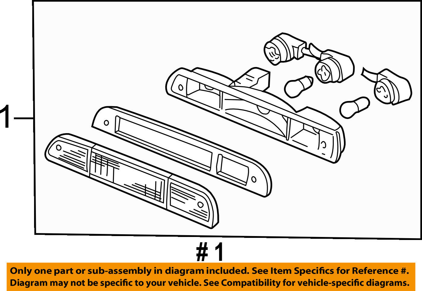 Ford Oem F 350 Super Duty High Mount 3rd Third Brake Light Lamp 2009 F250 Thru 550 Wiring Diagram Manual Original 1 Of 2only Available