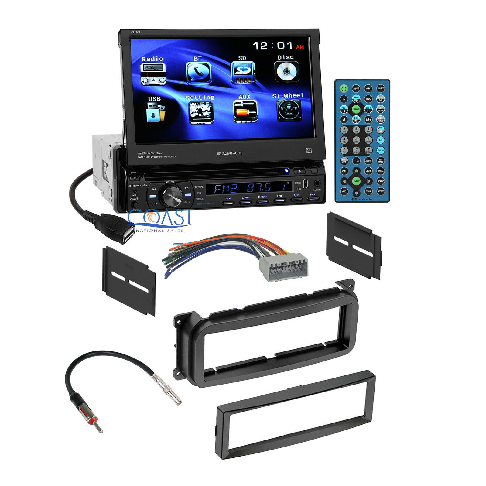 Planet Audio Touchscreen Radio Stereo Dash Kit Harness For Chrysler Jeep Accessories Dodge 1 Of 6free Shipping See More
