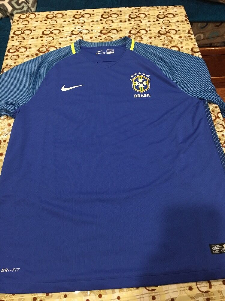 ff252284dd Official Nike Brazil CBF S S Away Stadium Jersey 724593-493 Men s Size ( 1  of 12Only 1 available ...