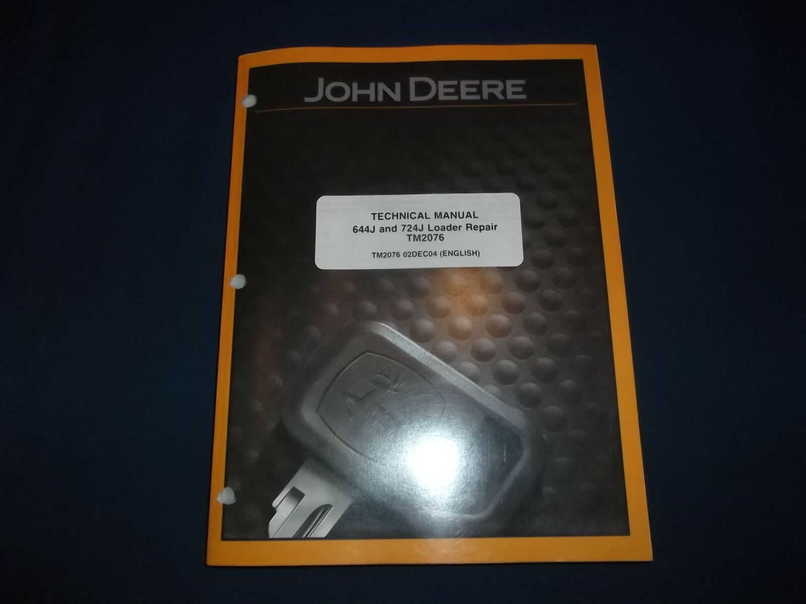 John Deere 644J 724J Loader Technical Service Shop Repair Manual Book  Tm2076 1 of 4Only 2 available ...