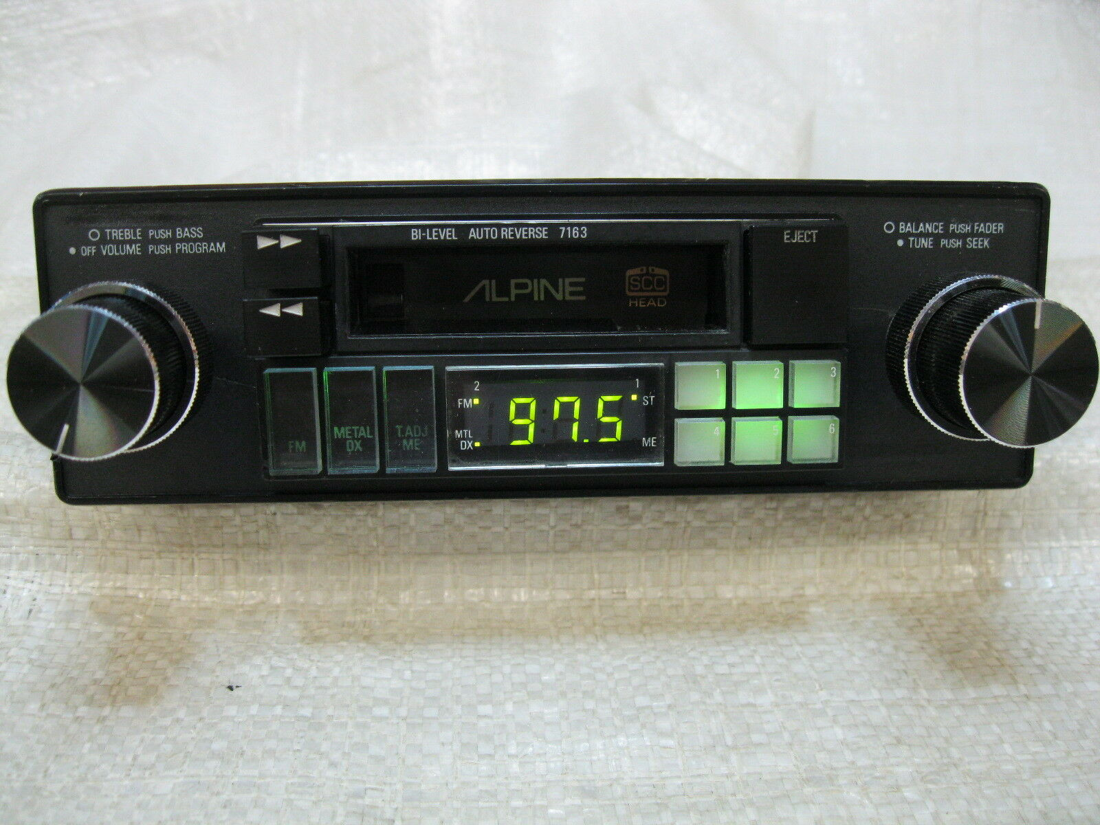 Alpine 7163 Wiring Harness Worksheet And Diagram Cde 9881 Am Fm Cassette Radio Knob Shaft Style Vintage Old Rh Picclick Com Stereo