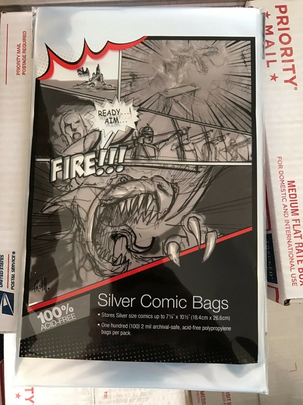 Silver Age Comic Book Bags And Boards 100 Of Each Ultra Pro Bcw 1 3free Shipping