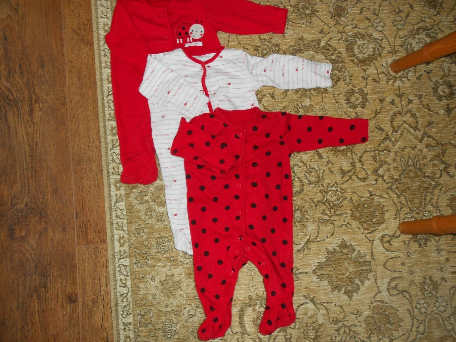 MOTHERCARE 3 x girls baby grows/sleepsuits, 0-3 months ...