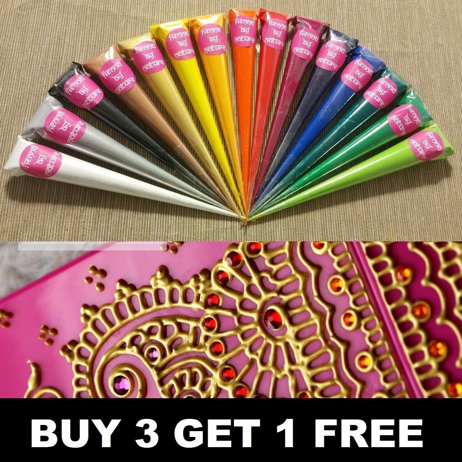 Acrylic henna paint cones mehndi candles canvas hand made for Can you paint candles with acrylic paint
