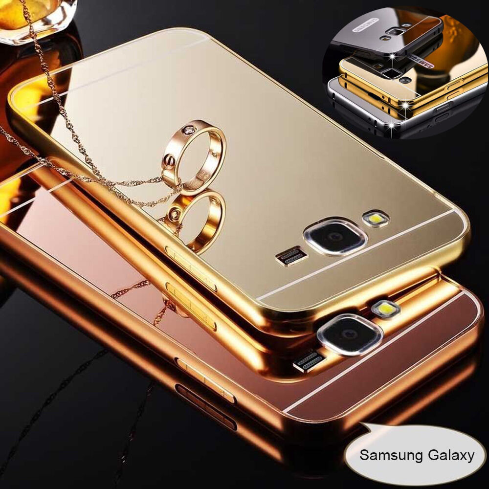 Aluminum Metal Mirror Case PC Back Cover For Samsung S8