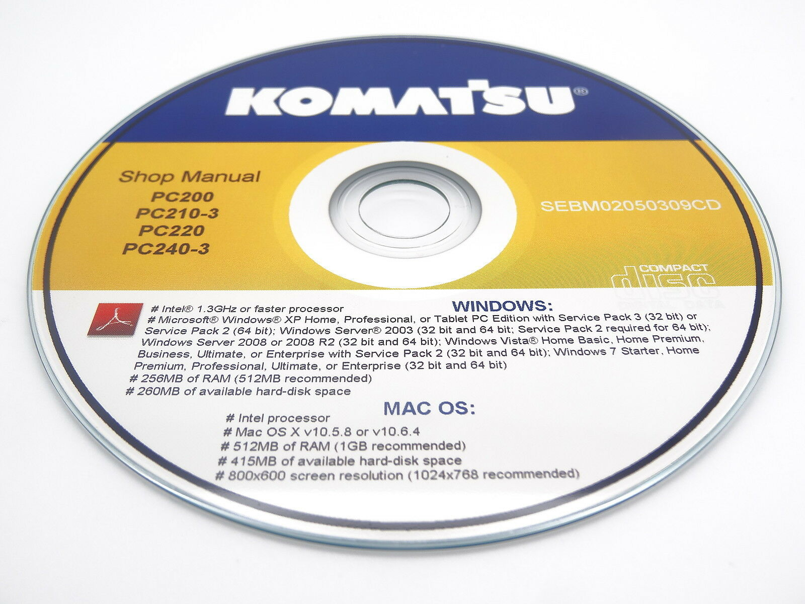 Komatsu PC128UU-2 Hydraulic Excavator Shop Workshop Repair Service Manual 1  of 1Only 2 available ...