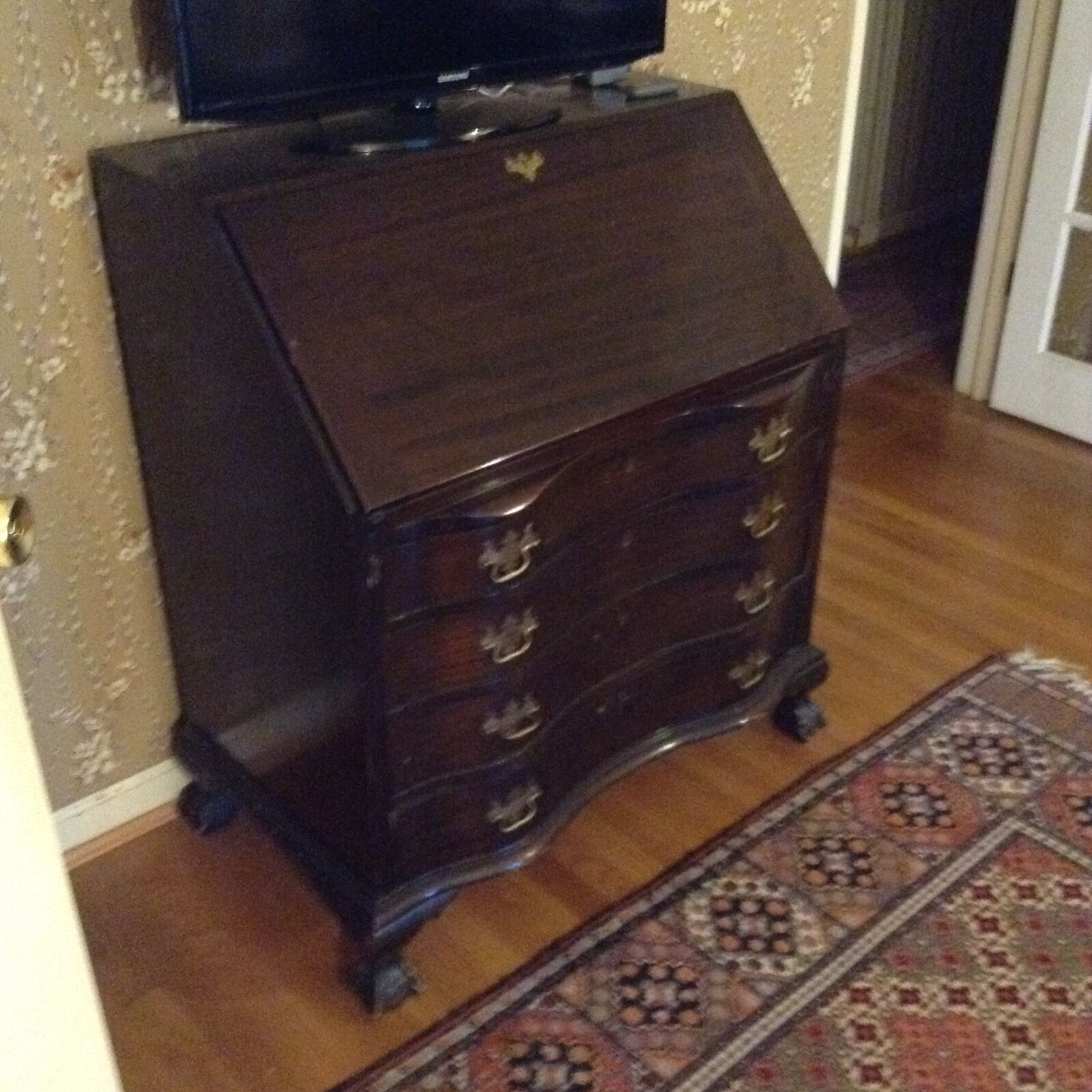 Antique Monitor Secretary Desk With Drop Leaf And Drawers Lovely Original Cond 1 Of 6only Available