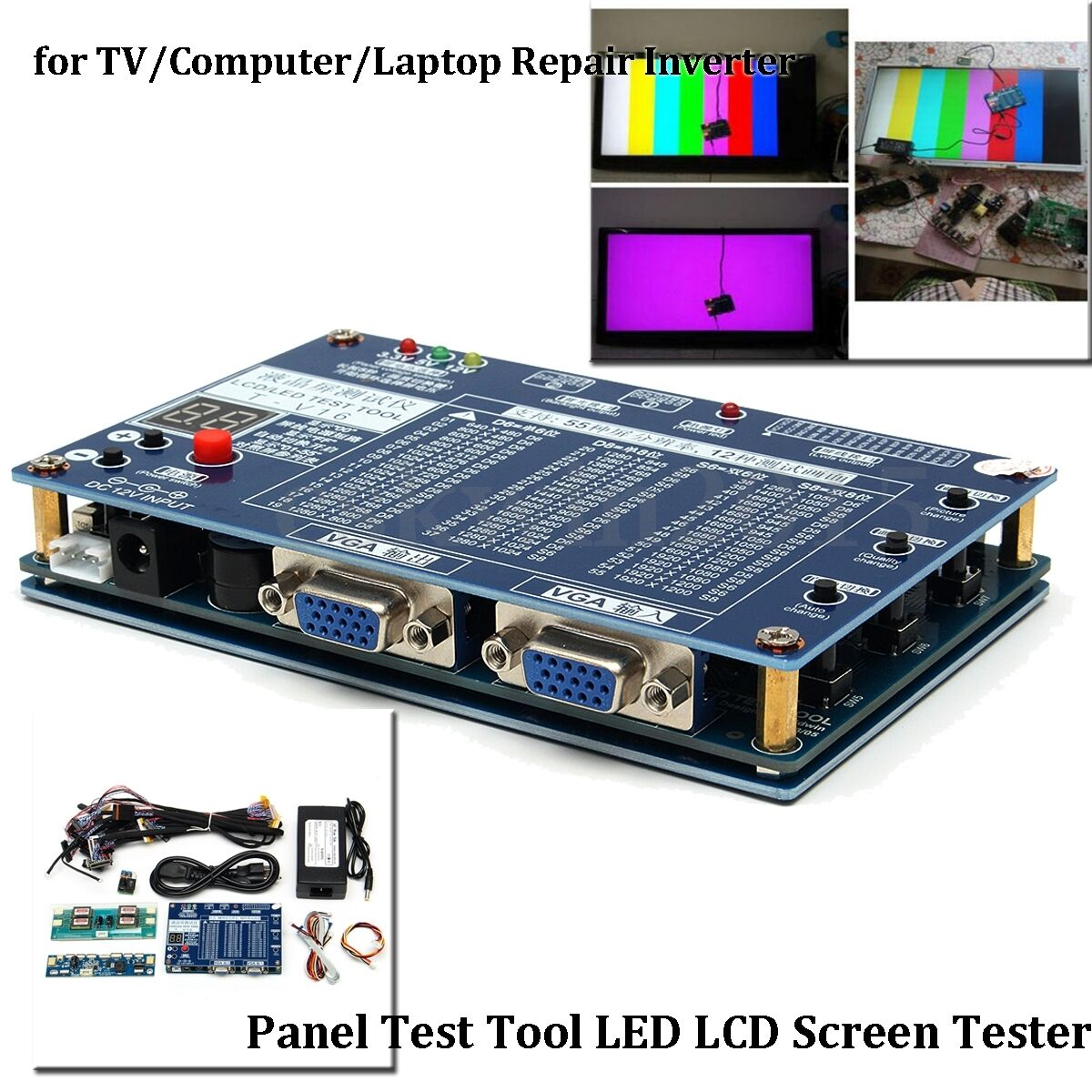 19pcs panel test tool led lcd screen tester inverter lvds cables for tv laptop cad. Black Bedroom Furniture Sets. Home Design Ideas