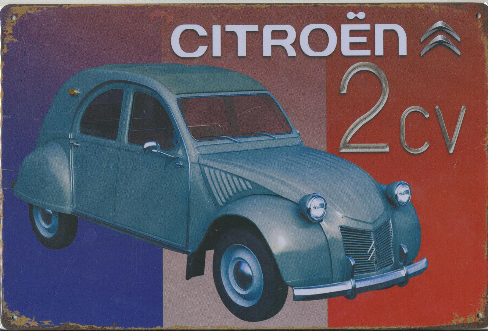 blechschild citroen 2cv ente auto werkstatt diner bar kneipe pub 20x30cm neu eur 11 95. Black Bedroom Furniture Sets. Home Design Ideas