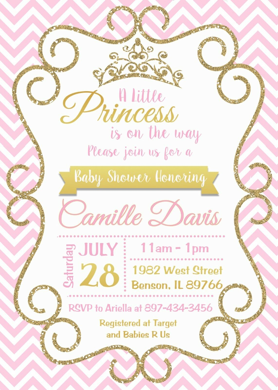 Princess baby shower pink baby shower invitation princess princess baby shower pink baby shower invitation princess invitation 1 of 1free shipping see more filmwisefo