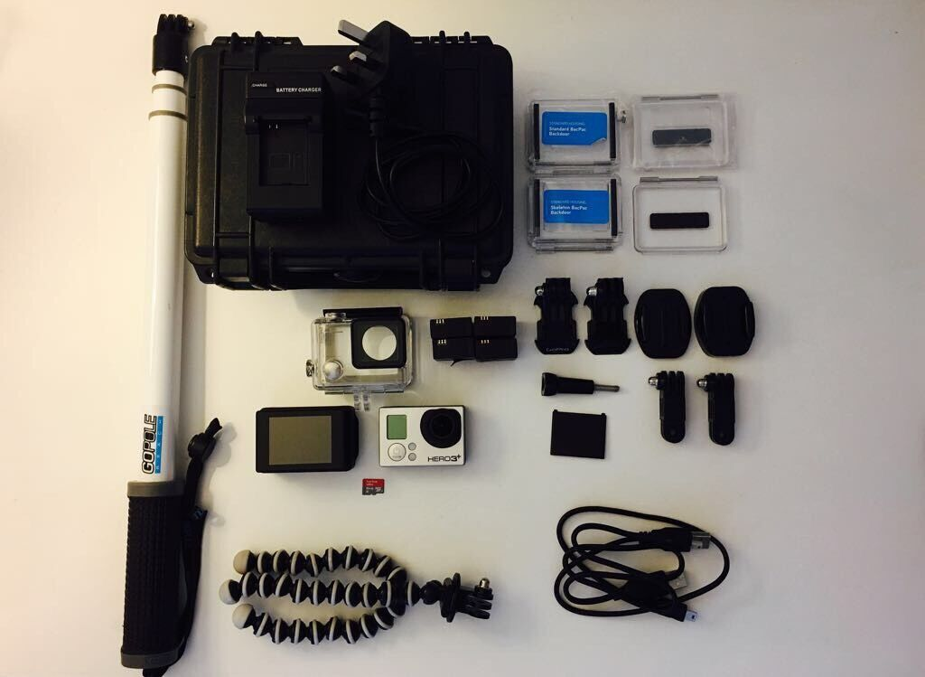 gopro hero 3 black edition with accessories picclick uk. Black Bedroom Furniture Sets. Home Design Ideas