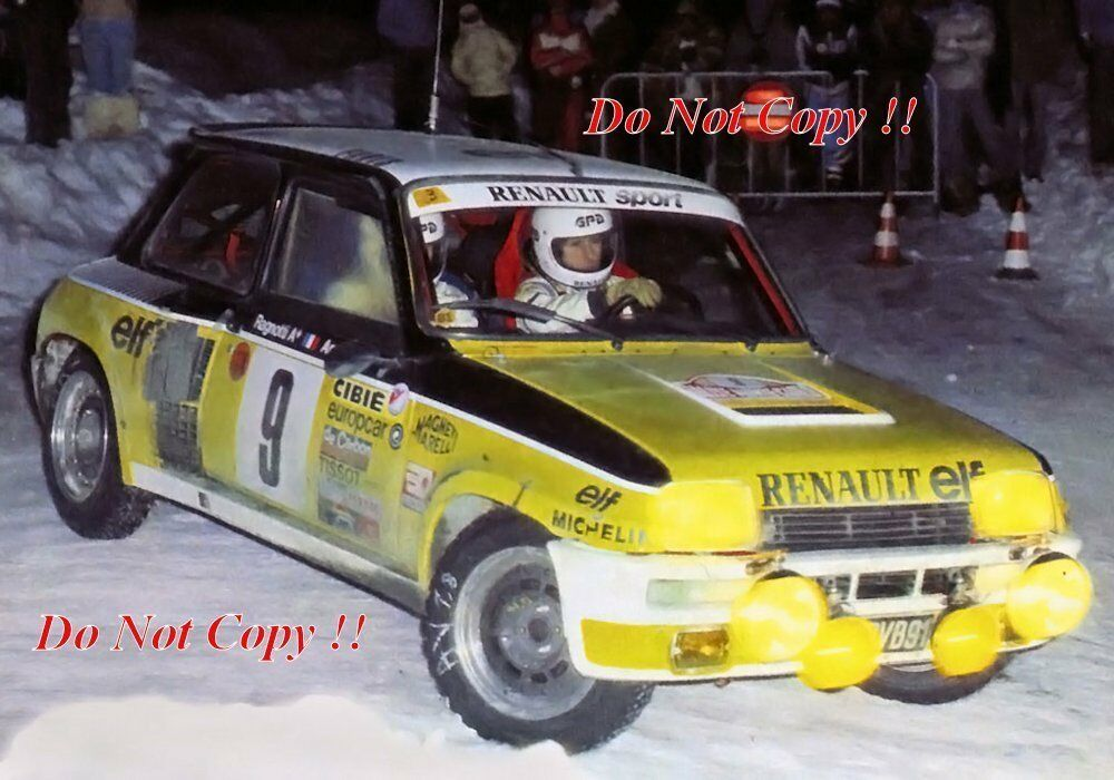 jean ragnotti renault 5 turbo winner monte carlo rally 1981 photograph 6 picclick uk. Black Bedroom Furniture Sets. Home Design Ideas