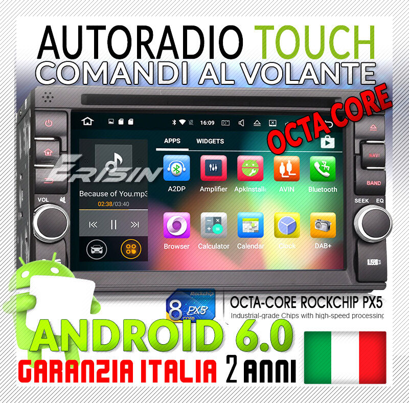 autoradio android 6 0 dab fiat croma 2005 navigatore mp3. Black Bedroom Furniture Sets. Home Design Ideas