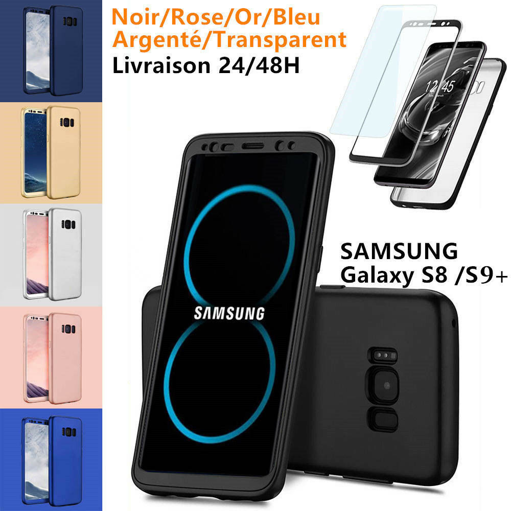 coque etui housse 360 protection samsung s8 plus note8 s9 film protecteur eur 1 89. Black Bedroom Furniture Sets. Home Design Ideas