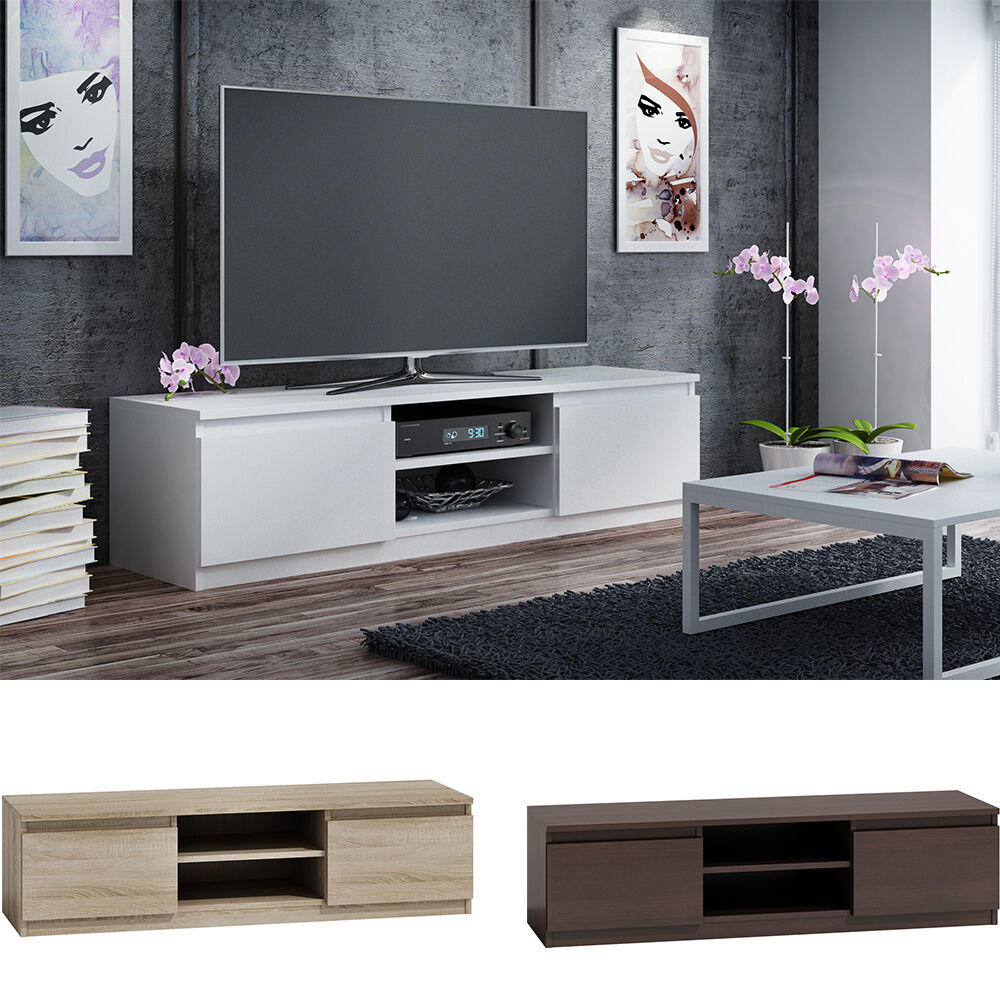 tv lowboard tv schrank tv tisch sideboard fernsehtisch 120 cm oder 140 cm eur 48 99 picclick de. Black Bedroom Furniture Sets. Home Design Ideas